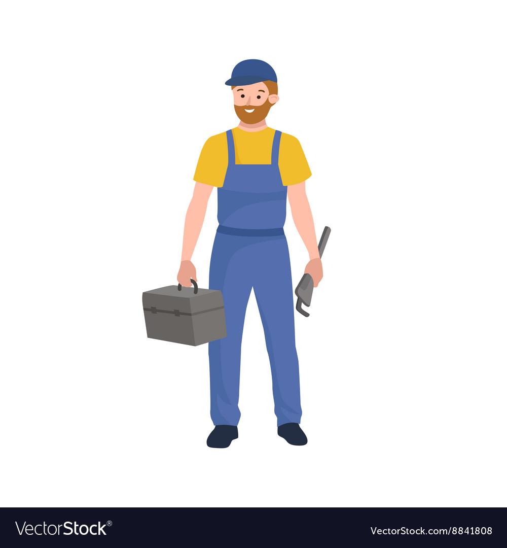 Man worker plumber profession people uniform