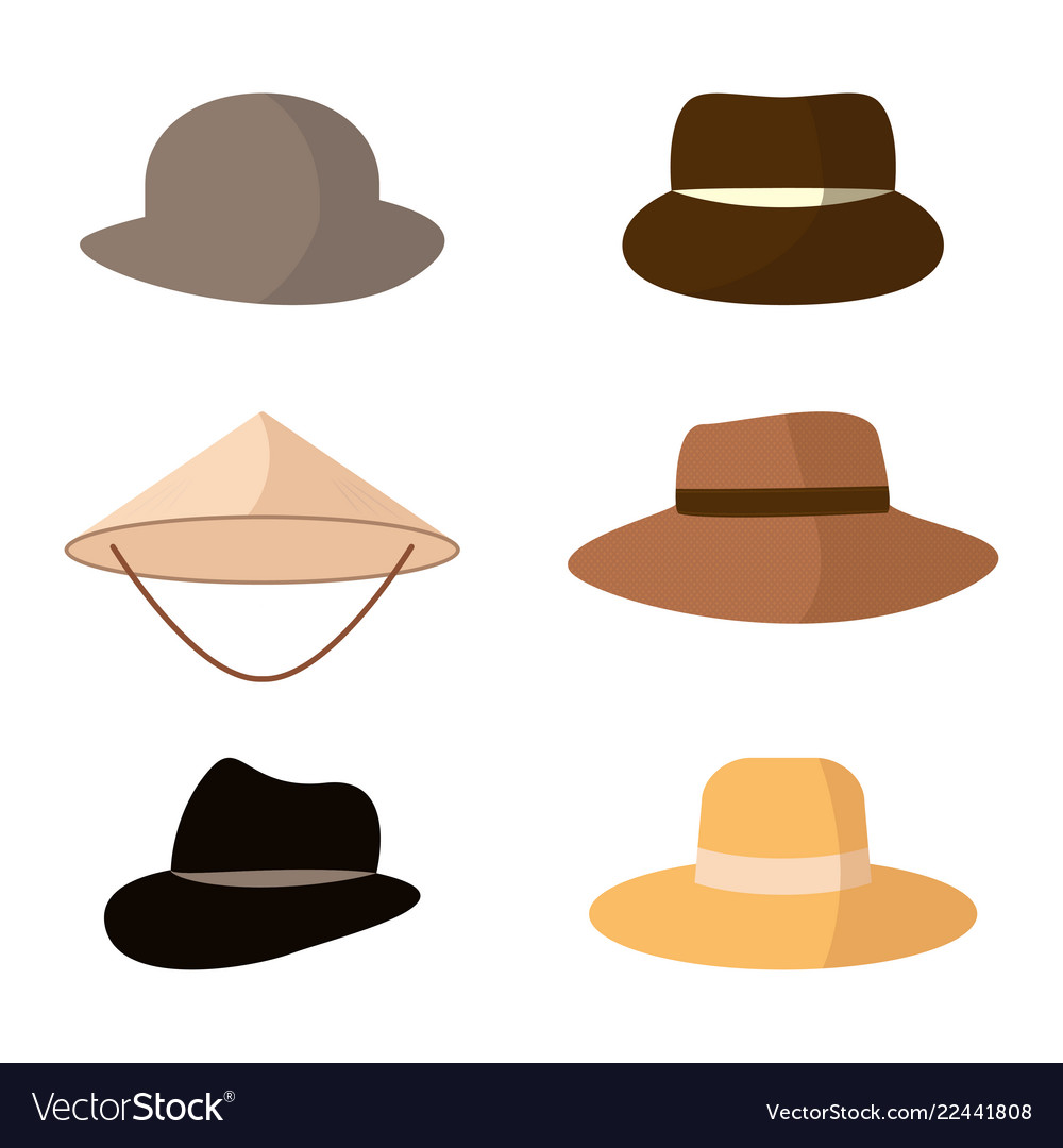 84752b43d351ce Set of hats head accessories of different types Vector Image