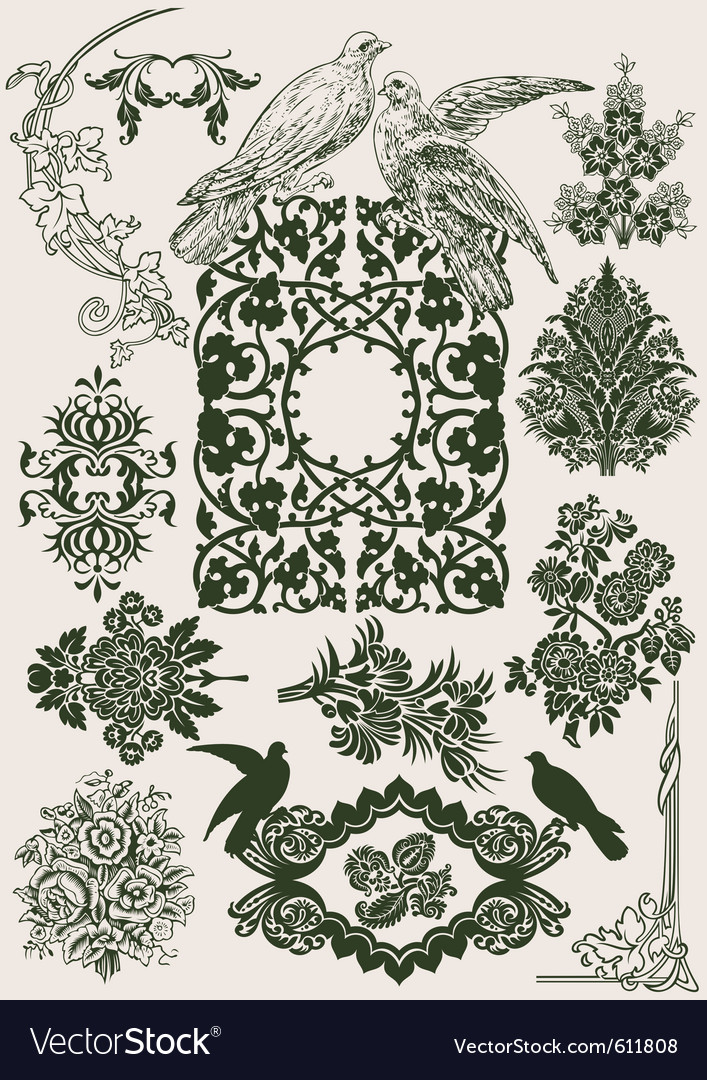 Vintage royal design vector