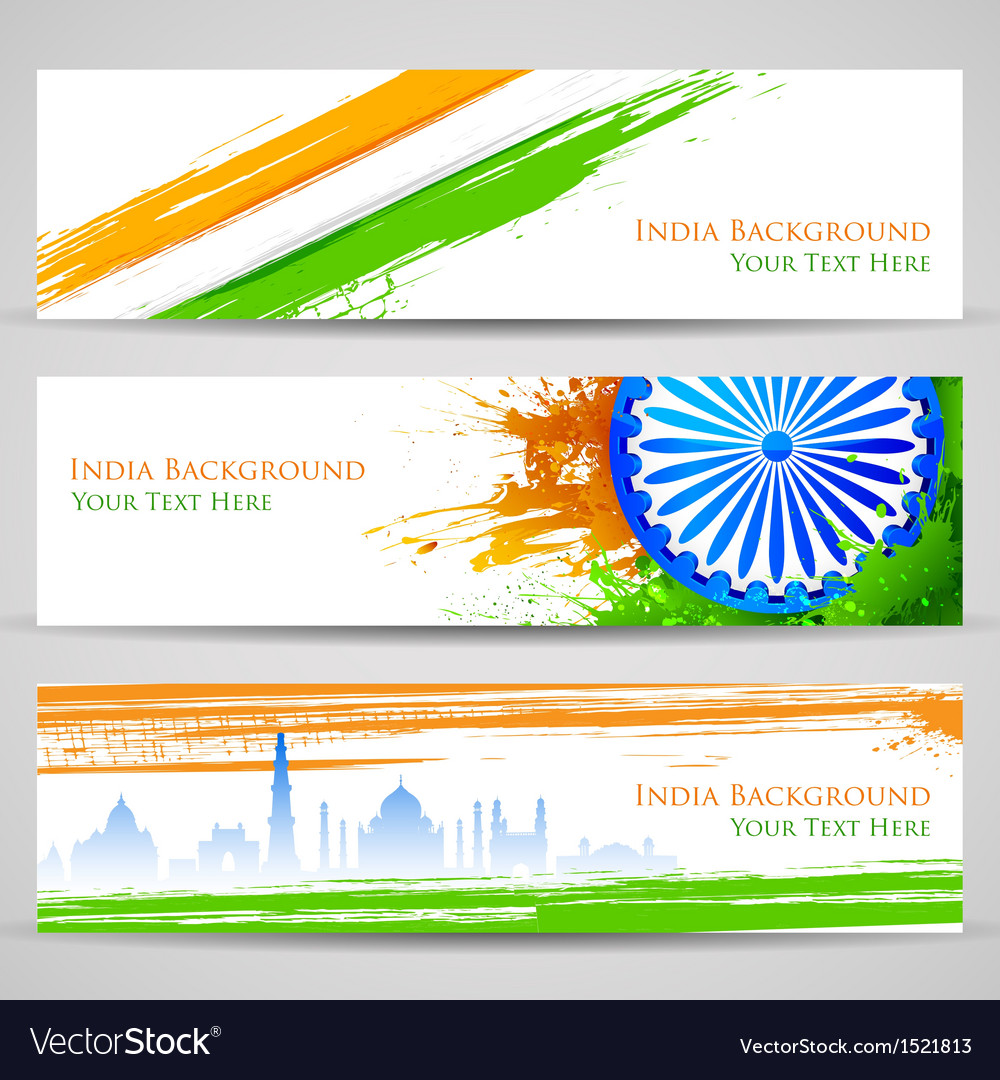 Banner and Header for India Celebration vector image