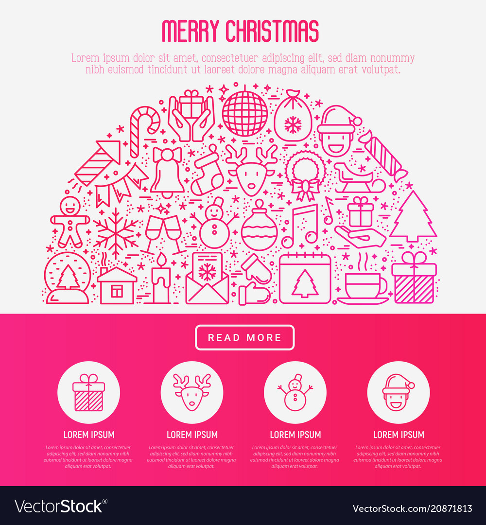Christmas celebration concept in half circle