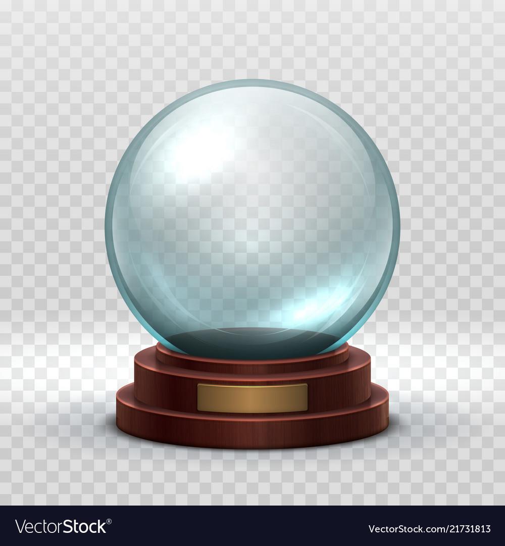 Christmas snowglobe crystal glass empty ball