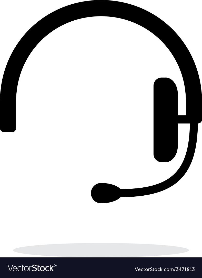 Headset icon on white background