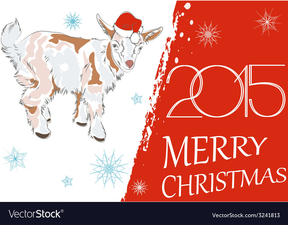 New year 2015 and merry christmas greeting card wi new year 2015 and merry christmas greeting card wi vector image m4hsunfo