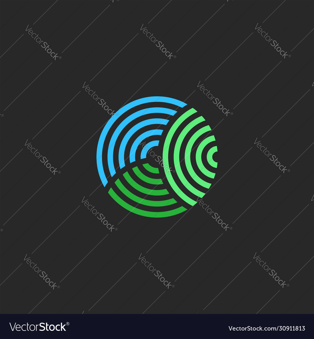 Organic farm logo circle shape abstract two