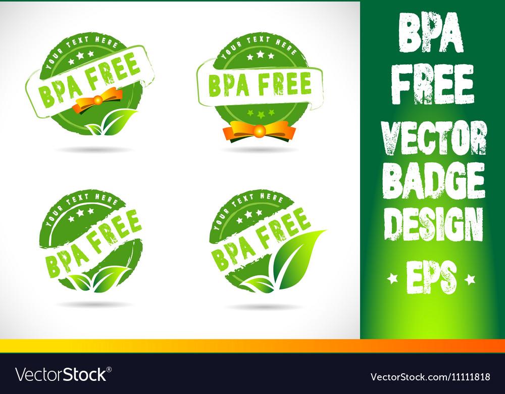 Bpa free Badge Logo vector image