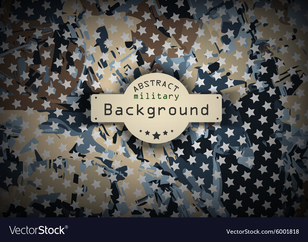 Camouflage military pattern with stars background