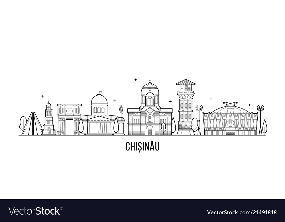 Chisinau skyline moldova city buildings