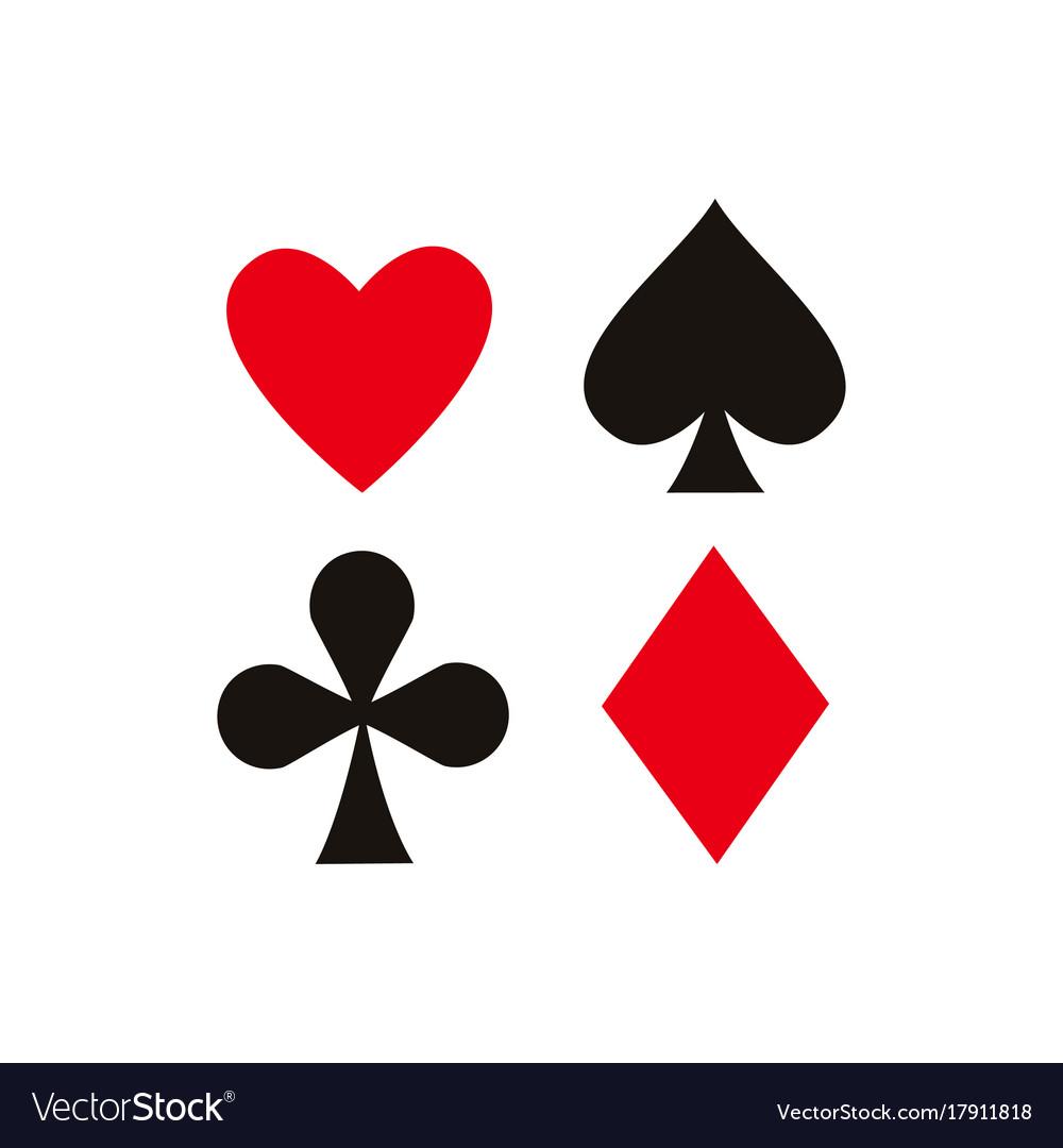 Flat diamond club shade heart set