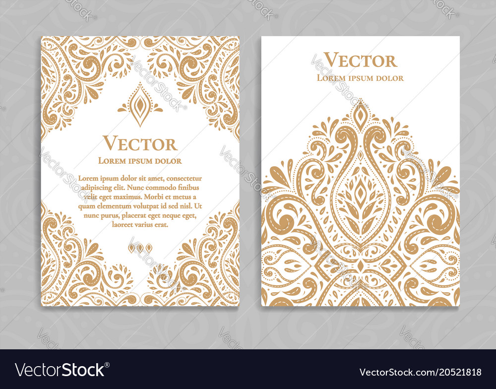 Gold vintage greeting card on a white background vector image on vectorstock m4hsunfo