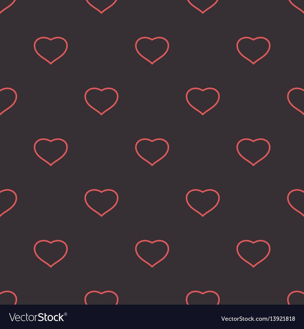 Hearts dark tender background seamless pattern