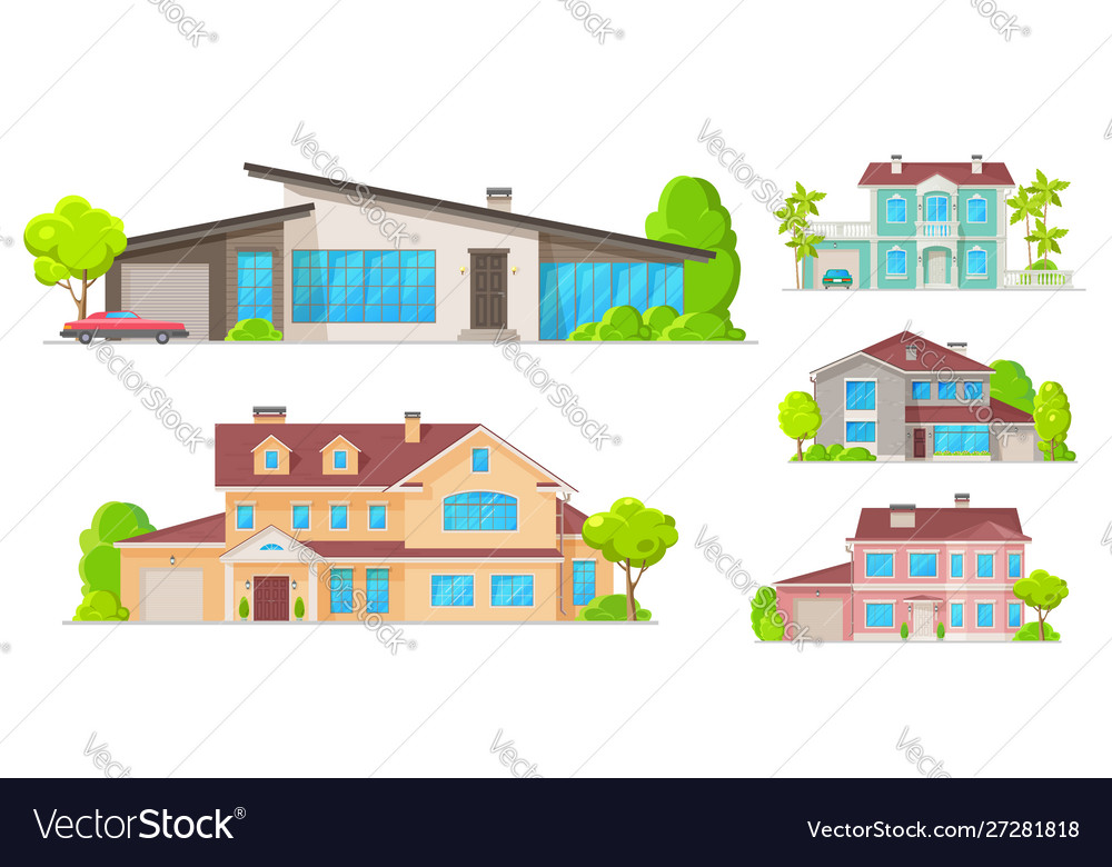 Real estate houses residential cottage buildings
