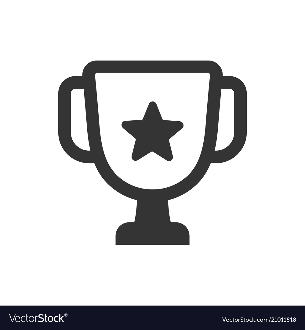 Achievement Logo trophy achievement icon royalty free vector image