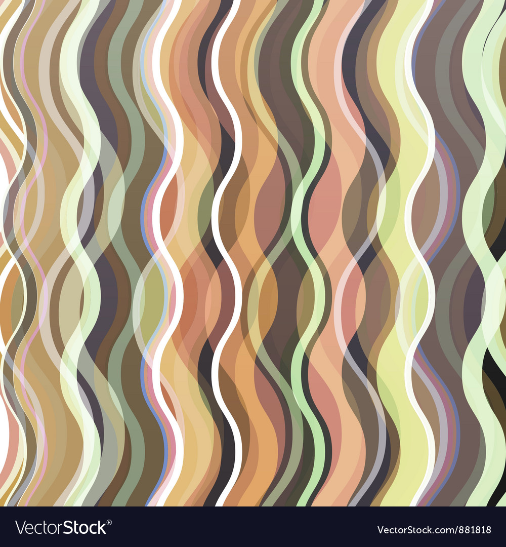 Wavy vintage background vector