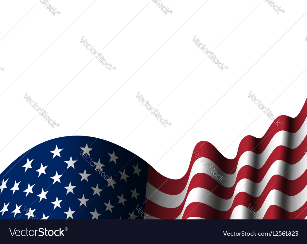 521b1e8612b3 American flag isolated Royalty Free Vector Image