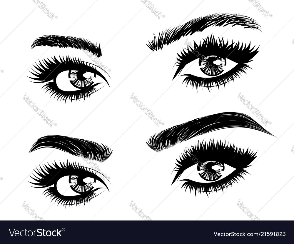 Eyebrow Threading Before And After Royalty Free Vector Image
