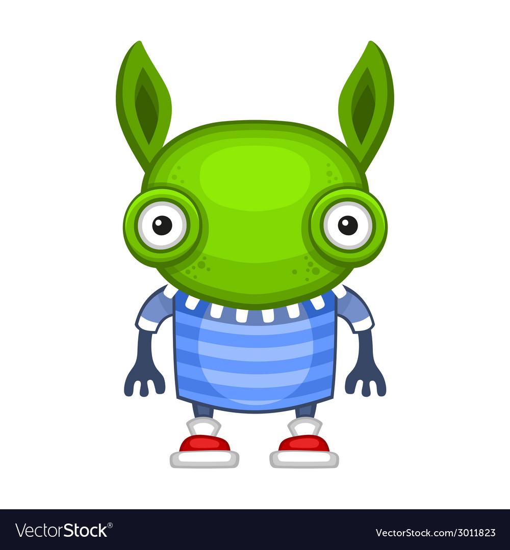 Funny Cartoon Green Alien