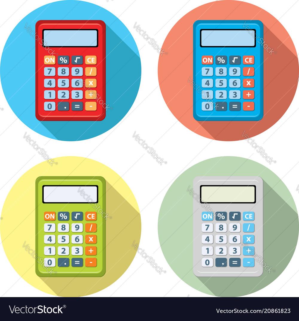 Set of calculator icons