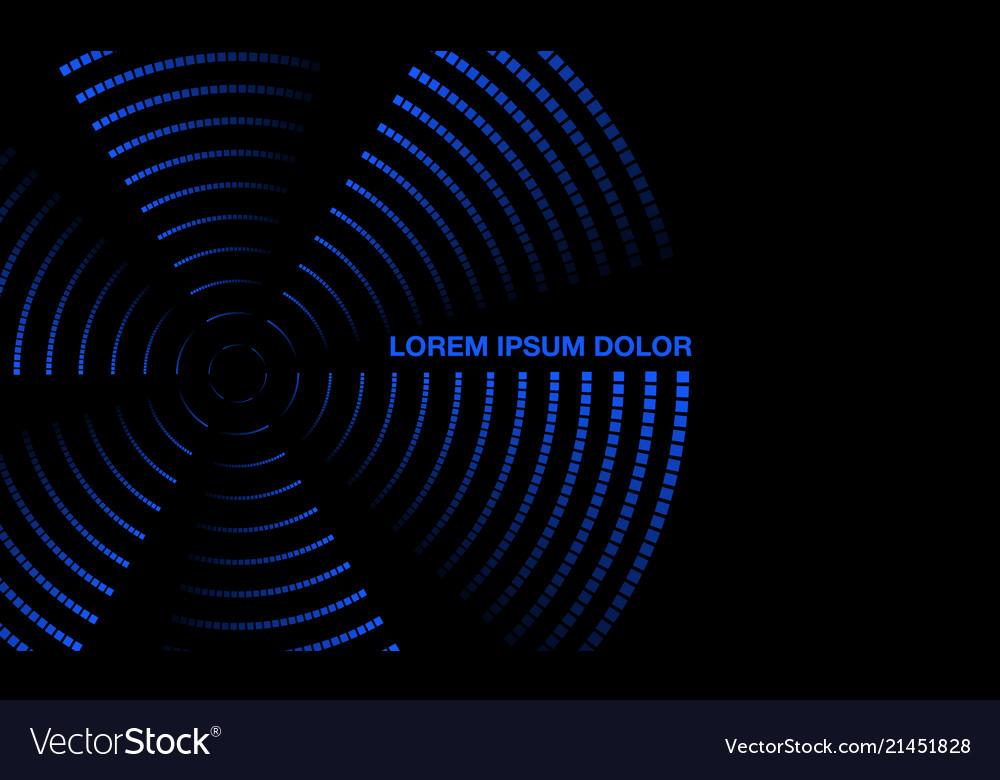 Blue neon rotating propeller banner