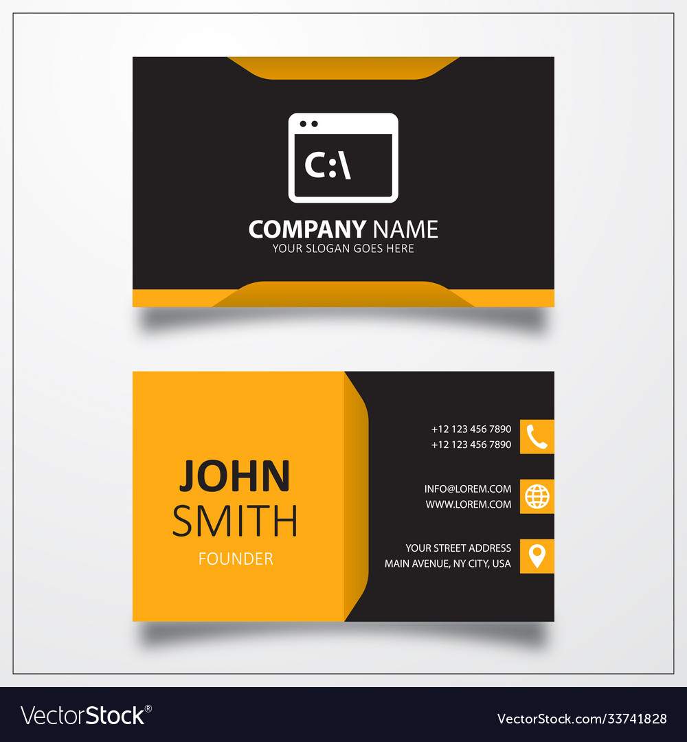 Command line icon business card template