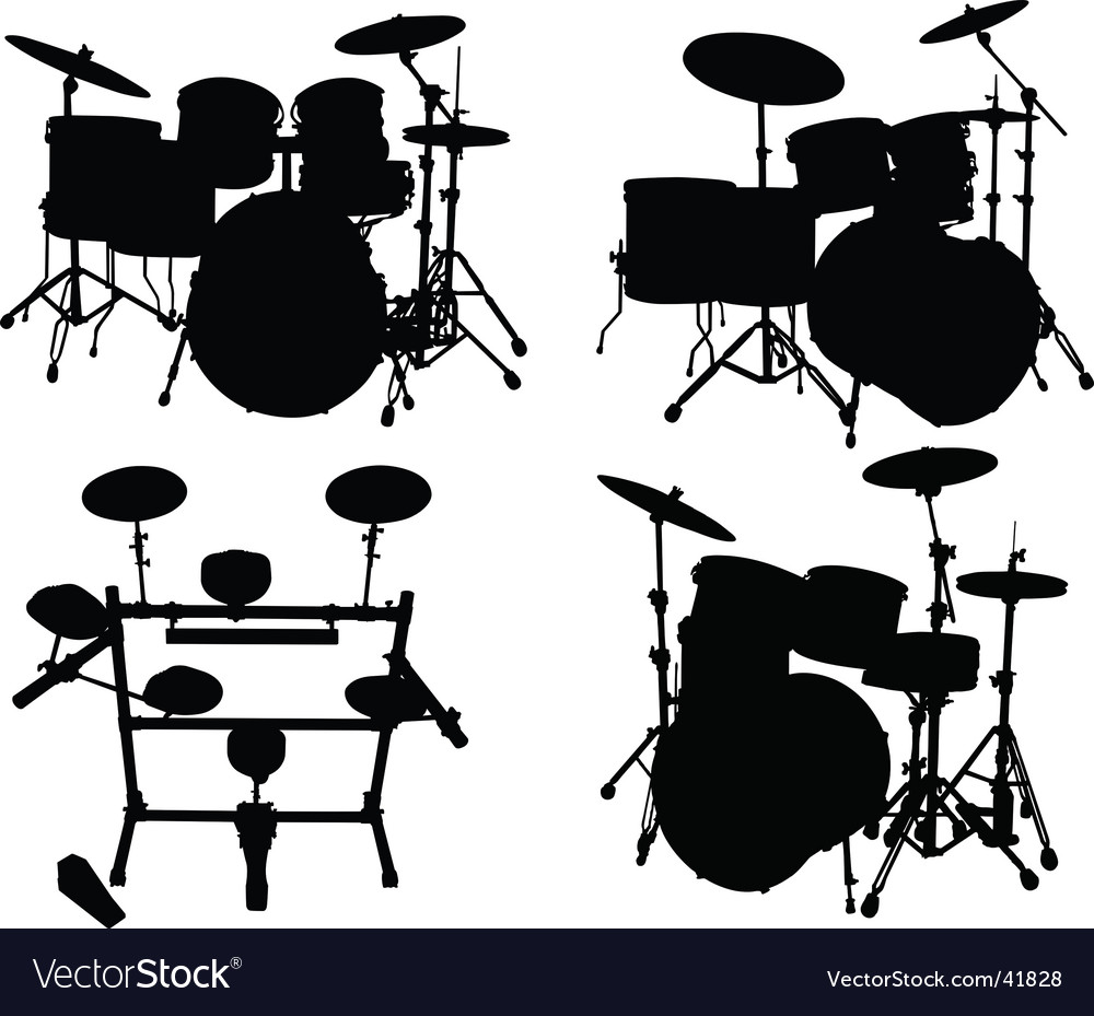 Drums kits vector image