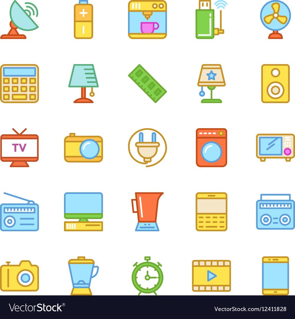 Electronics Colored Icons 2