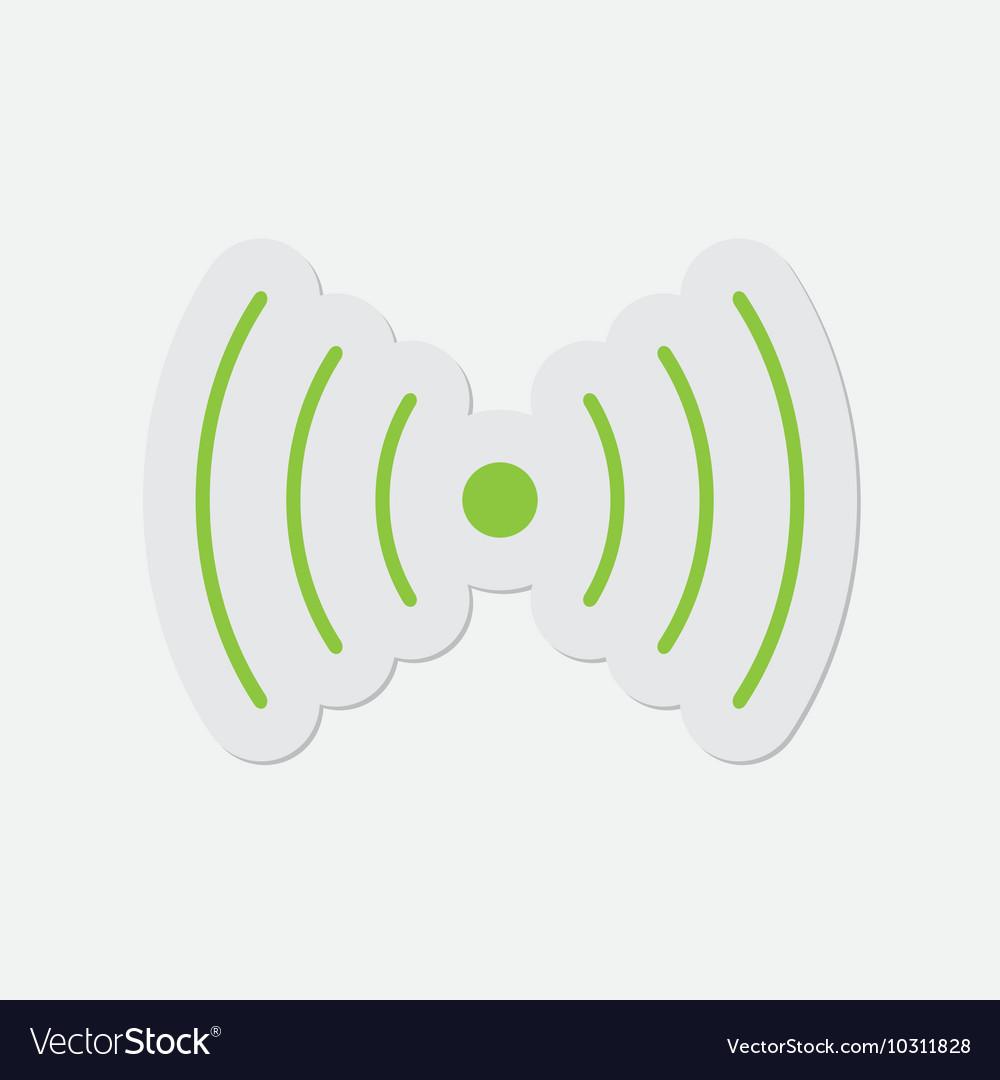 Simple green icon - sound or vibration symbol Vector Image