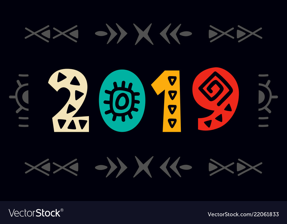 2019 greeting card scandinavian style lettering