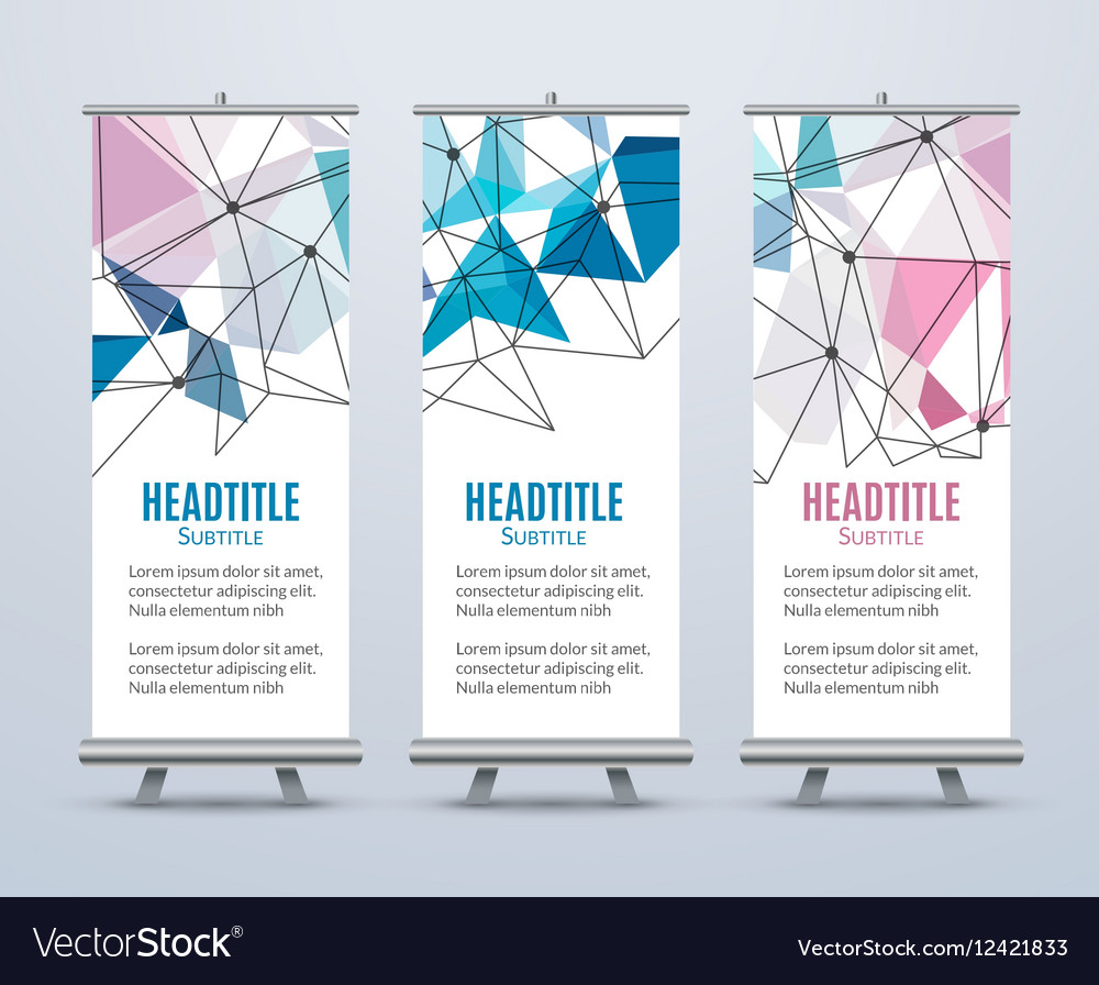 Banner Stand Design Template With Abstract