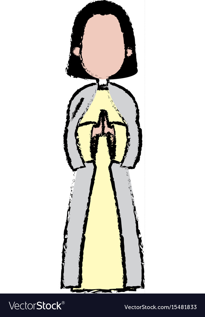Saint virgin mary holy religious image cartoon vector image