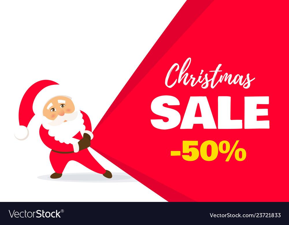 Sale christmas banner
