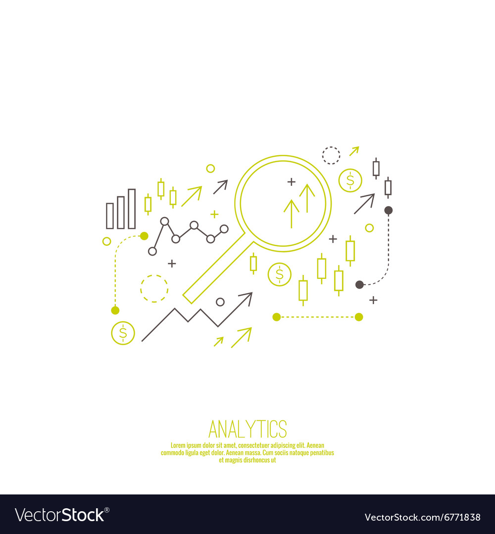Analysis and Financial Management Report vector image