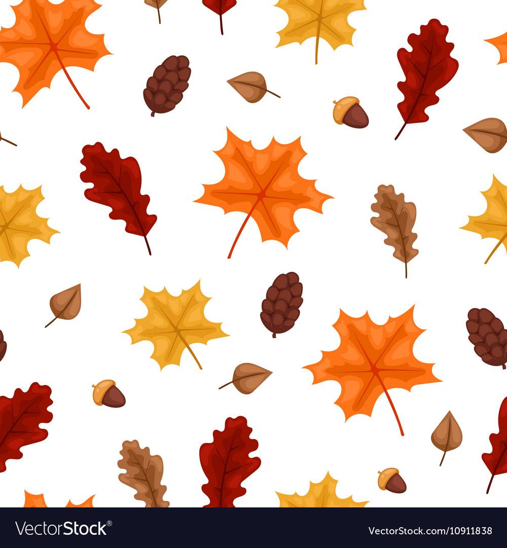 Autumn leaf seamless pattern vector image