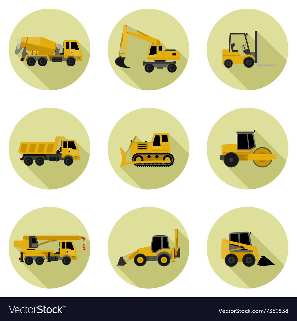 Construction machines icons