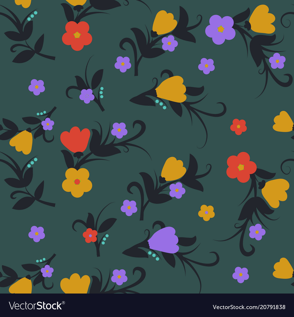 Floral background for textile fabric and wallpaper