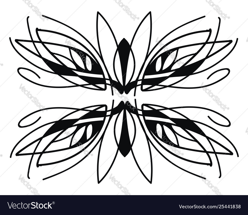 Free style natural ornament design on white