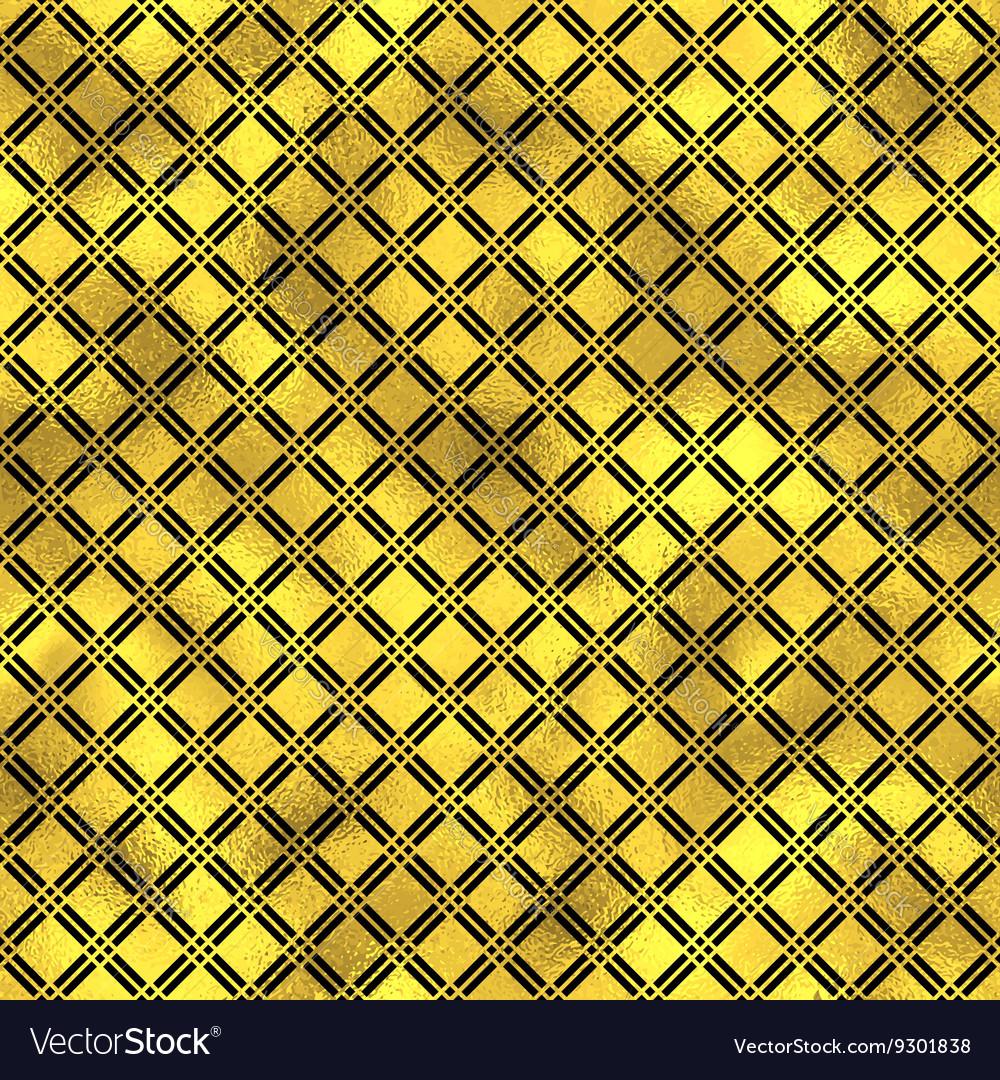Seamless fashion pattern with gold diamonds