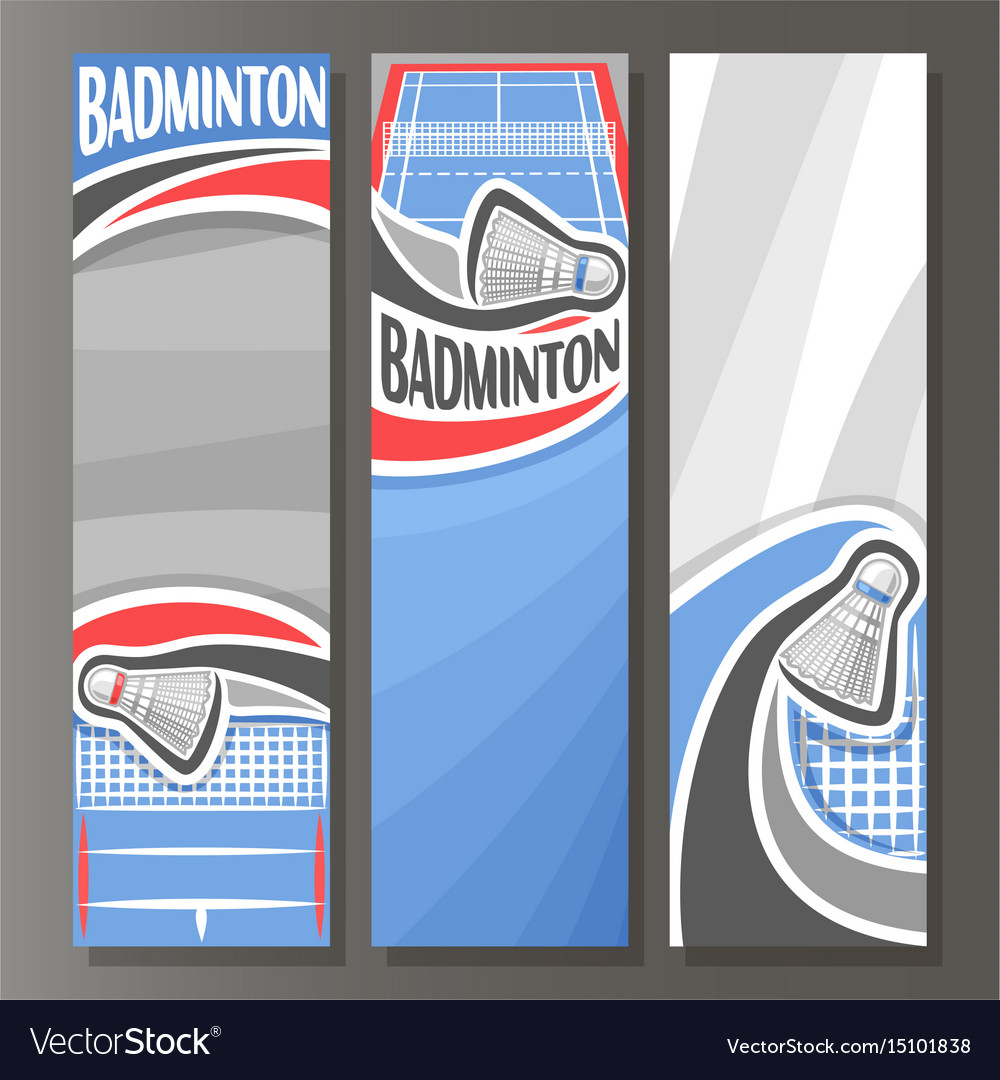 Vertical banners for badminton vector image