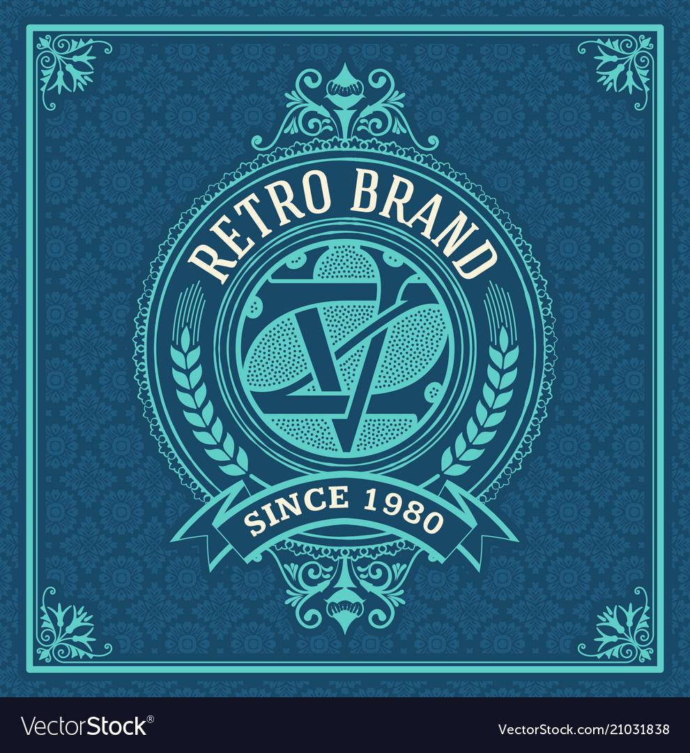 Vintage logo template business identity design