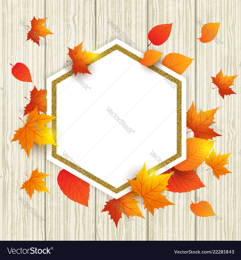 Abstract autumn frame with leaves