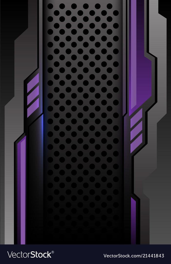 Abstract violet dark gray futuristic circle mesh