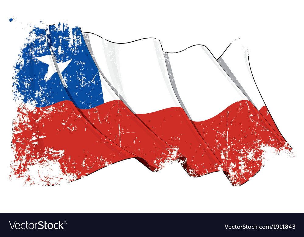 chile flag grunge royalty free vector image vectorstock