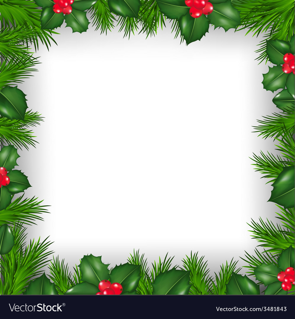 Christmas Free Images.Christmas Border From Holly Berry