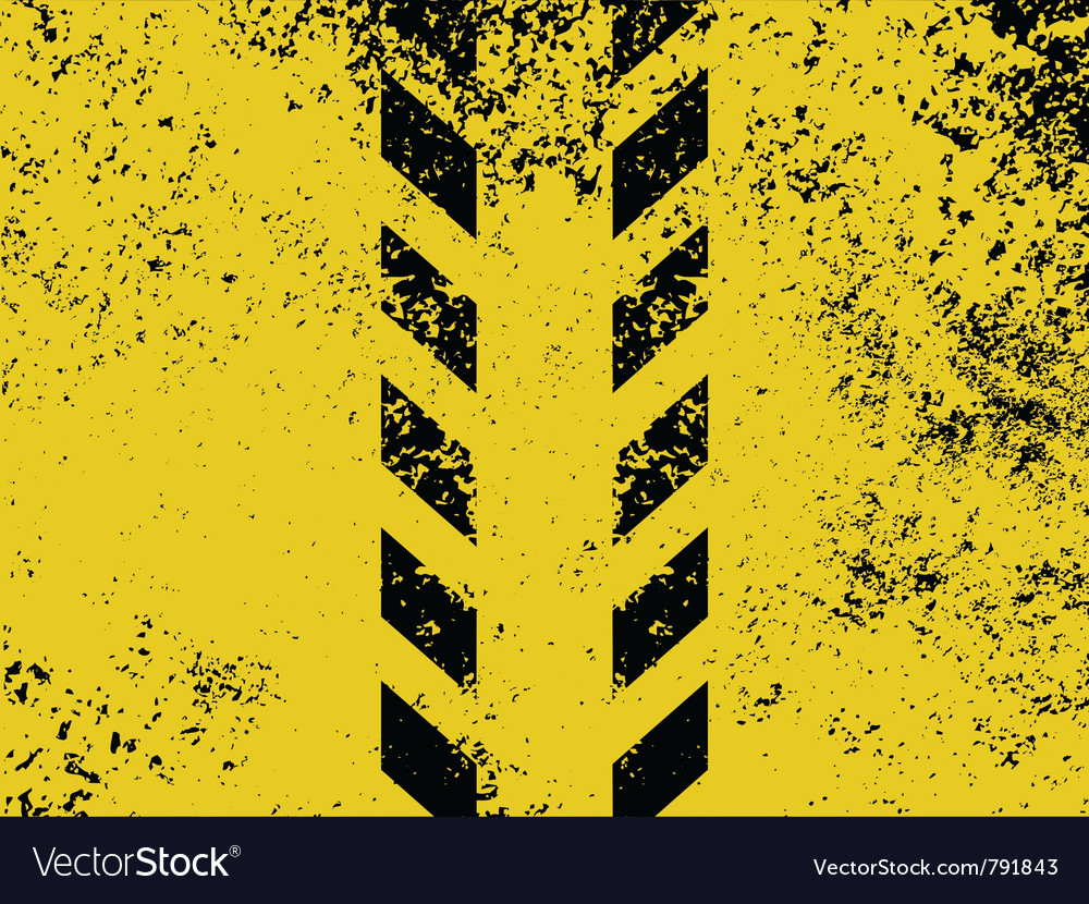 Grungy and worn hazard vector image