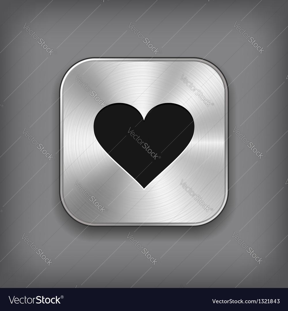 Heart icon - metal app button