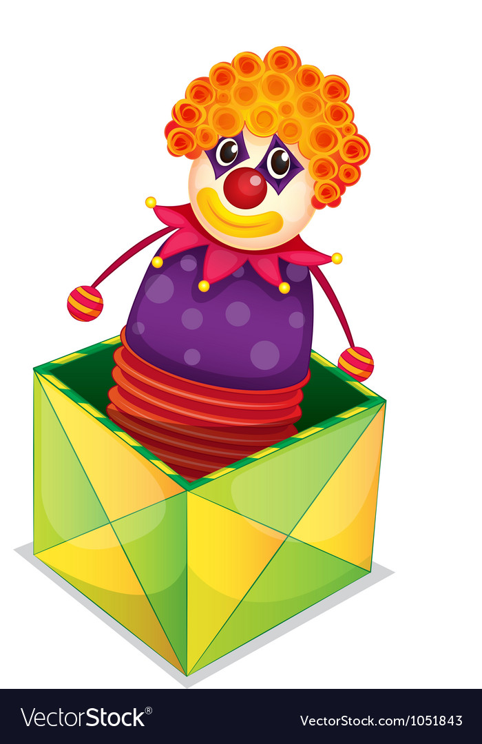Joker in a box vector image