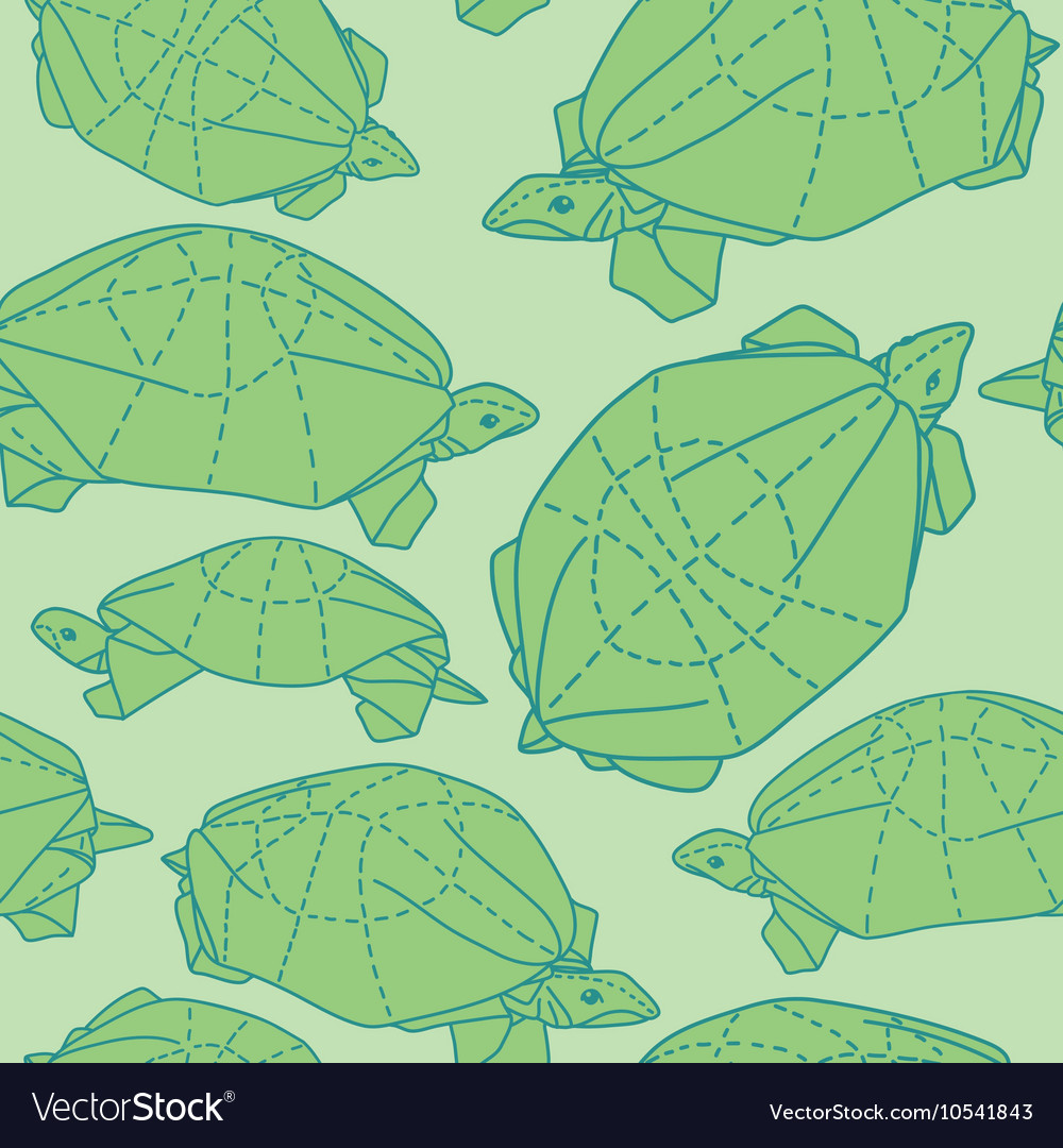 Origami turtles drawing