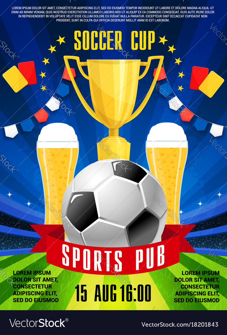 Poster for soccer football sports pub