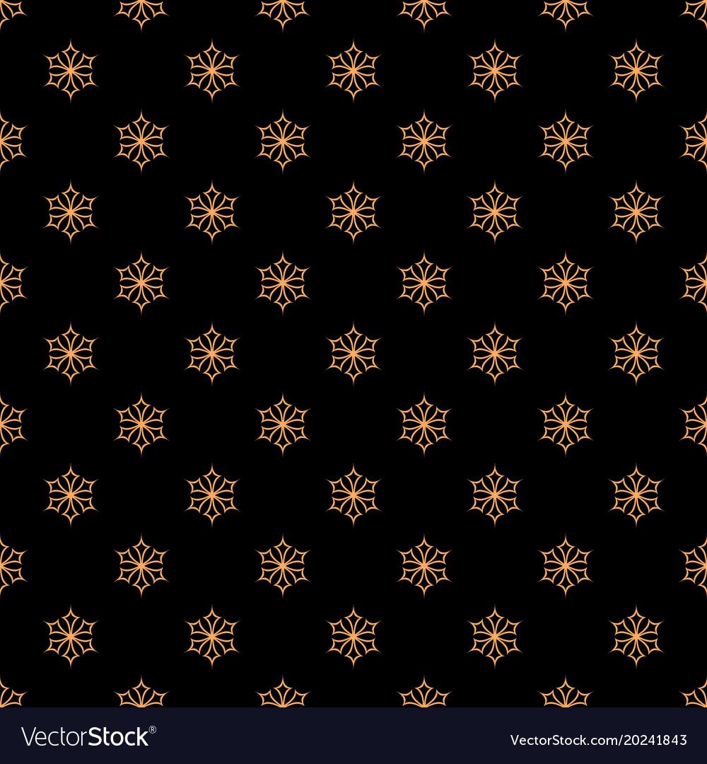 Retro simple stylized snowflake pattern wallpaper vector image