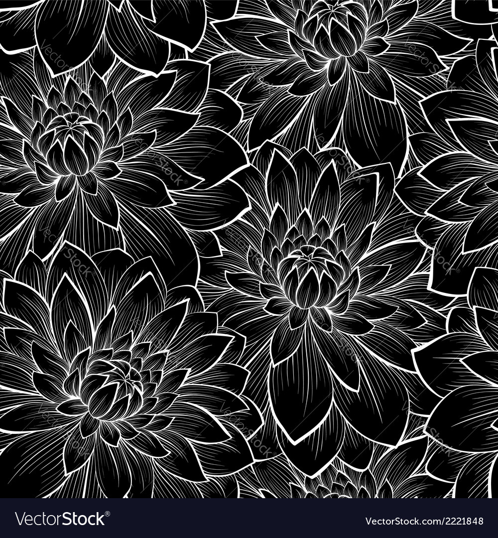 Background with monochrome black and white flower